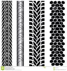 Motorcycle Tire Tread Design Tire Track Collection Stock Vector Illustration Of