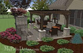 furniture patio deck grills fireplaces simple patio design with pergola fireplace and grill station