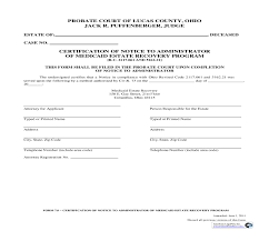 Of Notice To Administrator Of Medicaid Estate Recovery Program 7 0