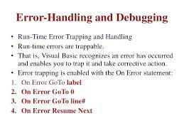 On Error Resume Next Vba Vba On Error Resume Next On Error Resume