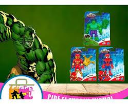 Mini Figuras De Accion Spiderman Hulk Y Ironspider - Bs. 8.000.000,00 en  Mercado Libre