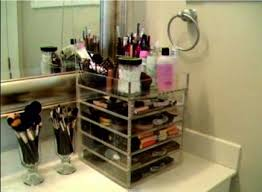 kardashian makeup acrylic lucite clear cube organiser with drawers removeable dividers amazon co uk kitchen home