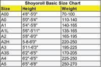 Hypnotik Bjj Gi Size Chart Fuji Gi Size Chart Bjj