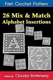 26 Mix Match Alphabet Insertions Filet Crochet Pattern