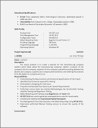 Tester Resumes 3 Years Manual Testing Sample Resumes Awesome Software Tester Resume