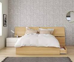Amazon.com: Bali 3 Piece Queen Size Bedroom Set, Natural Maple ...