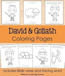 David And Goliath Coloring Pages And Coloring Pages From Mamas