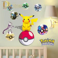 Pokemon Bedroom Wallpaper Online Buy Wholesale Pokemon Wall Sticker From China Pokemon Wall