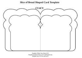slice of bread template. Brilliant Template Slice Of Bread Shaped Card Template On Craftsuprint Designed By Mary Jane  Harris  Has A Double Shape To Add Eyecatching Layering To Of