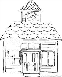 House Coloring Page Mouseeclub