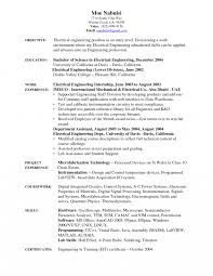 Electrical Engineer Resume Yun56 Co Instrument Examples Templates