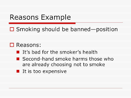 the mini research paper ppt video online  reasons example smoking should be banned position reasons