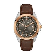 bulova men s designer watch leather strap rose gold precisionist bulova men s designer watch leather strap rose gold precisionist wrist watch 98b267