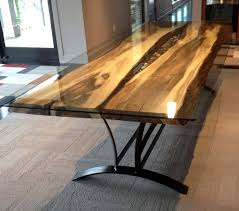on the river steel root furniture modern wood and metal furniture slab