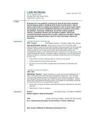 Resume For Teaching Job Sample Resume For Teaching Position Resume