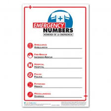 Emergency Phone Number Poster Workplace Safety Posters