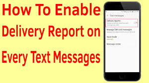 Dilivery Report How To Enable Delivery Report On Every Text Messages In Samsung Galaxy Android Phone Helping Mind