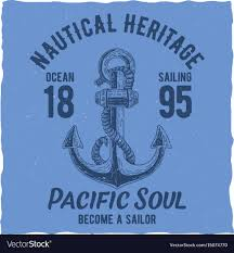 Label Design Vector Free Download Nautical T Shirt Label Design