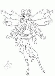 Winx Club Enchantix Coloring Pages Coloring Home