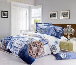 Queen King size Bedding set Blue and White Classical china and ... & Queen King size Bedding set Blue and White Classical china and Peony Floral Duvet  Quilt Cover Bed Sheet set 4pcs Bed in a bag Bedlinen Adamdwight.com