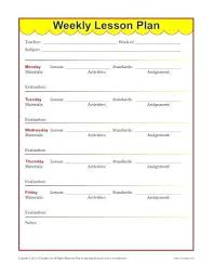 Free Printable Lesson Plan Template Weekly Detailed Lesson Plan Template Elementary Sample Pdf