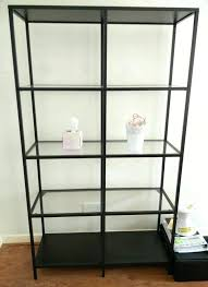 ikea glass shelf unit shelves shelving display black corner units