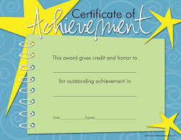 achievement awards for elementary students school blank certificate of achievement professional and high