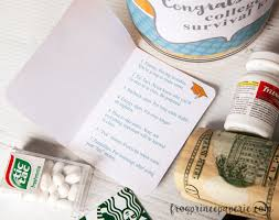 college survival kit for high school graduation gift
