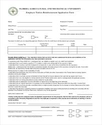 Sample Tuition Reimbursement Form 8 Free Documents In Pdf