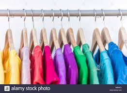 Closet Color Design Fashion Clothes On Clothing Rack Bright Colorful Closet