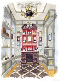 interior design drawings perspective.  Design Interior Of Mrs John Strong Store In NYC For Design Drawings Perspective C