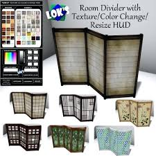 room privacy screen second life marketplace s wooden room divider with texture in regarding privacy screen