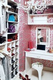 teen walk in closet. With The Addition Of A Table, Chair, And Mirror, This Walk-in Closet Becomes Teen Grooming Retreat Where New Outfits Can Be Tested. Walk In