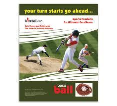 Baseball Brochure Template Baseball Club Ad Poster Designs