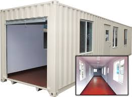 40 FT Shipping Container with 3 Roll Up Doors | Aztec Container