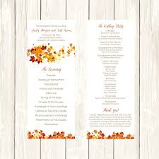 Sample Wedding Programs Templates Free 032 Wedding Program Diy Template Fall Swirling Leaves