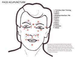 Facial Rejuvenation Acupuncture Points Chart Face Acuuncture Treatment Points Are Shown