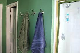 bathroom wall hooks towels style silver bathroom towel hooks with shower room area and green wall
