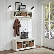 white entryway furniture. Crosley Brennan Entryway Storage Bench With Shelf White Hayneedle Furniture W