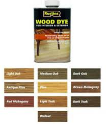 Details About Rustins Wood Dye Quick Drying Non Fading And Non Bleeding All Colours Sizes