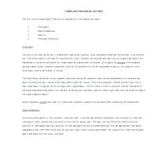 Letter Of Complain Template Responding To Customer Complaints Template 7 Complaint