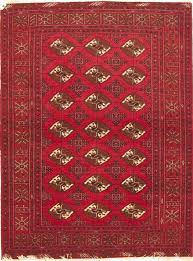 turkman red hand knotted 3 11 x 5 2 area rug 100 10572