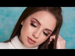 warm toned smokey eyes brown eyeliner makeup tutorial you