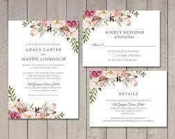 Floral Wedding Invitation Rsvp Details Card Wedding Card Wedding Invitation Card Wedding Invitations Ideas Wedding Reception Invitation Wording From