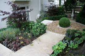 Small Picture Contemporary garden with formal planting design and resin bonded