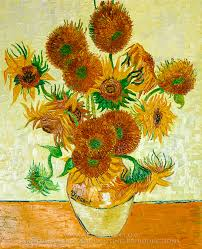 vincent van gogh sunflowers 14 in a vase oil painting reion