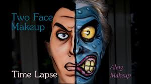 two face cartoon makeup time lapse ale13 s make up