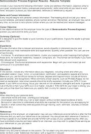Sample Resume For Process Engineer Process Engineer Resume Format It Sample 5 Samples For