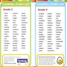 Spelling Bee Word Lists   Warburg School