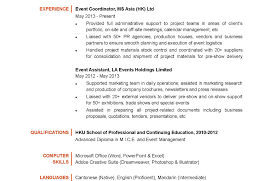 Event Management Job Description Resume Event Marketing Resume Sample Template Hotel Coordinator Objective 97